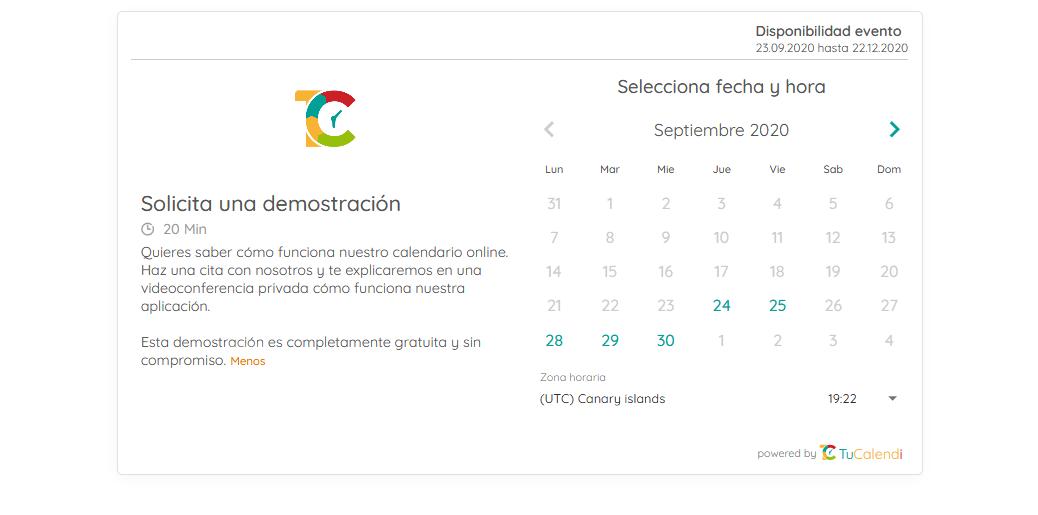 Crear calendarios online con TuCalendi en un minuto