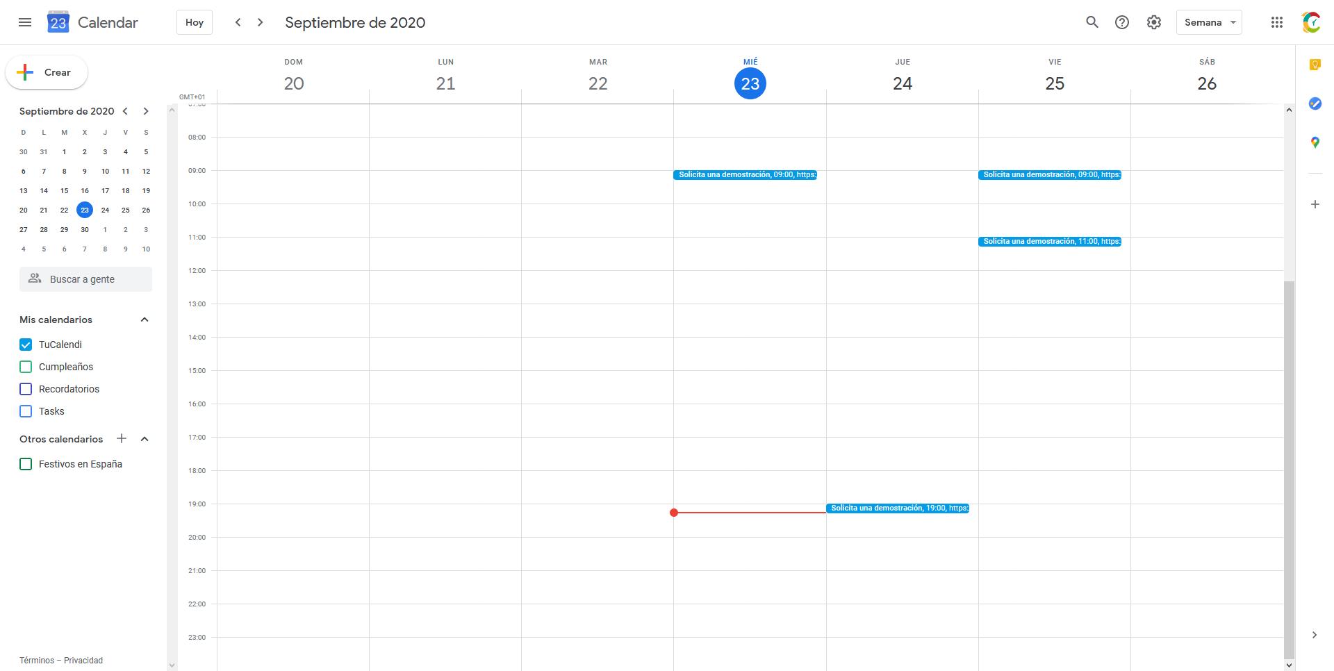 Integración Google Calendar y TuCalendi